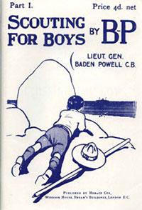 Original Scouting for Boys book cover.