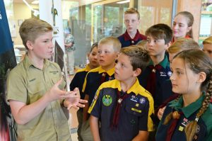 Scouts meeting with Robert Irwin, Scout Ambassador.
